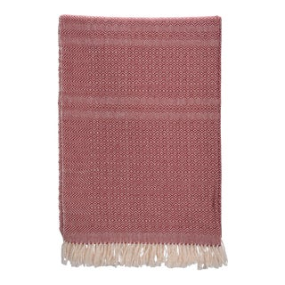 Diamante Cotton Blanket in Burgundy Size Extra Large For Sale