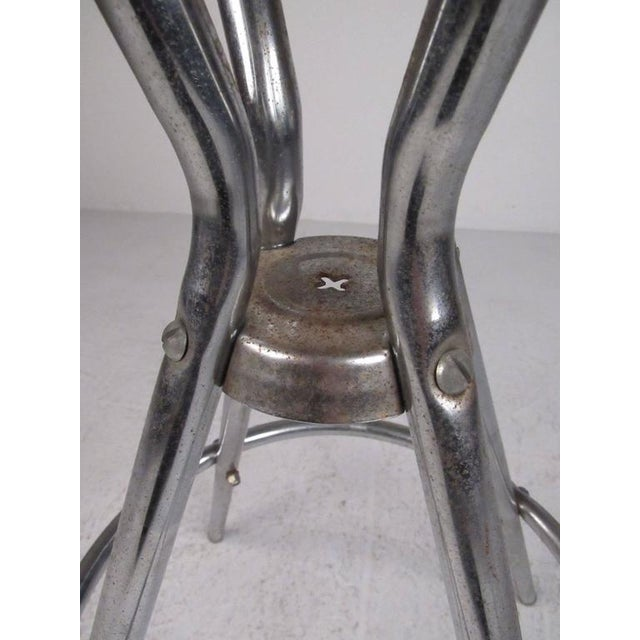 Mid 20th Century Mid-Century Modern Slat Back Swivel Bar Stools - A Pair For Sale - Image 5 of 11