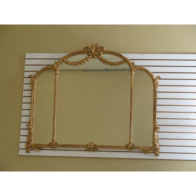 1990s Labarge Gold Gilt Mantle or Sideboard Horizontal Mirror For Sale - Image 12 of 12