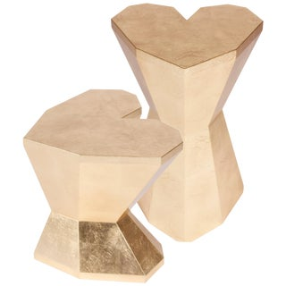 Pair of Queen Heart Side Tables by Royal Stranger For Sale