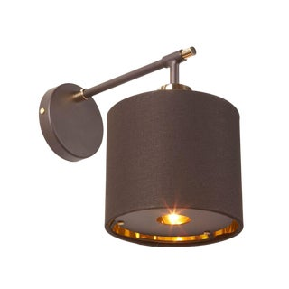 Balance Brown/Polished Brass Sconce For Sale