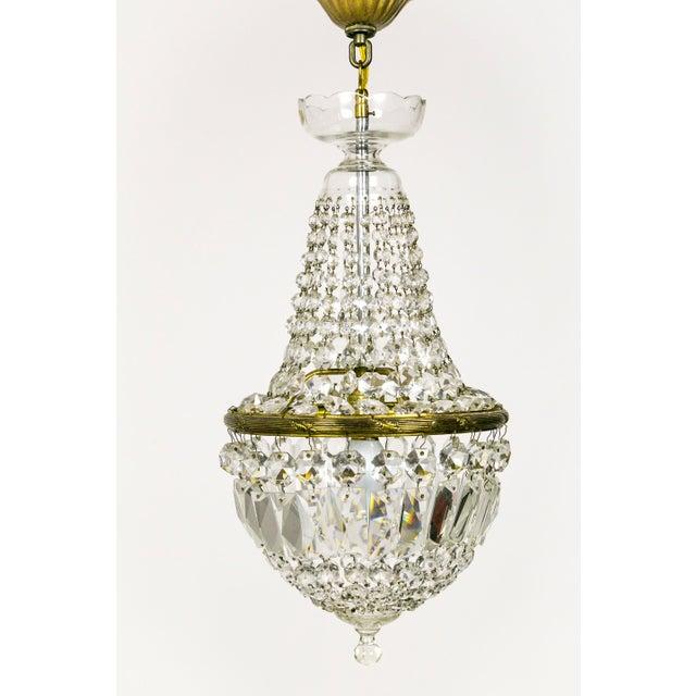 Regency Petite Crystal Basket Chandeliers - a Pair For Sale In San Francisco - Image 6 of 10