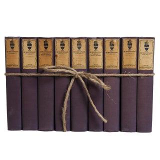 Antique Book Gift Set: Guy De Maupassant in Violet, S/9 For Sale