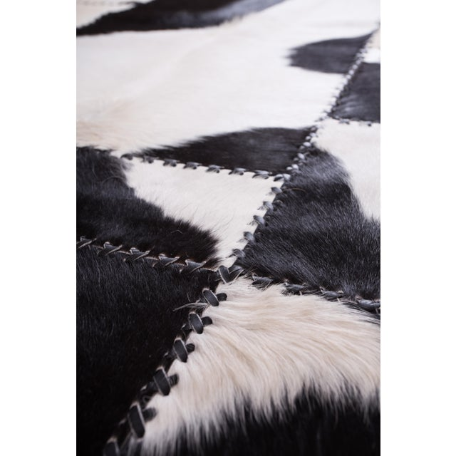 "Aydin Cowhide Patchwork Accent Area Rug - 4'7"" x 8'0"" - Image 8 of 9"