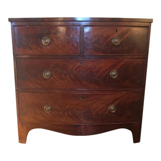 Vintage English Bow Front Chest of Drawers