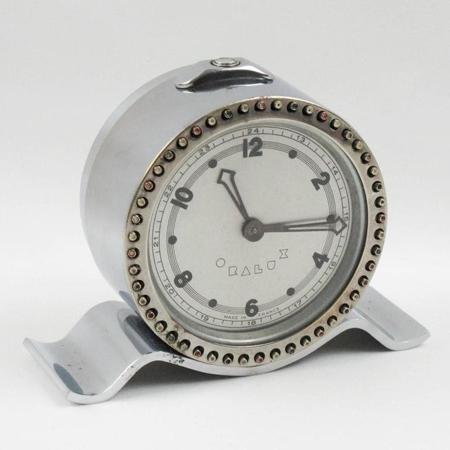 Art Deco Machine Age Oralux Chrome Clock for Blind People - Image 2 of 9