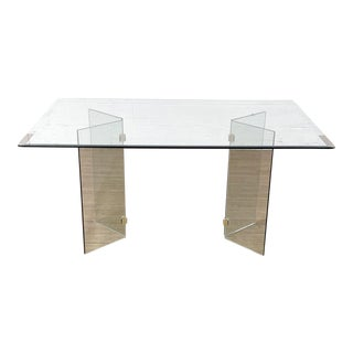 All Glass Dining Table For Sale