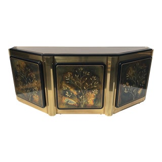 1970s Hollywood Regency Bernhard Rohne for Mastercraft Brass Credenza For Sale