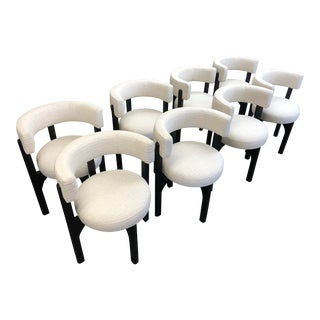 Authentic 'Heron' Designer Dining Chairs - Set of 8 For Sale