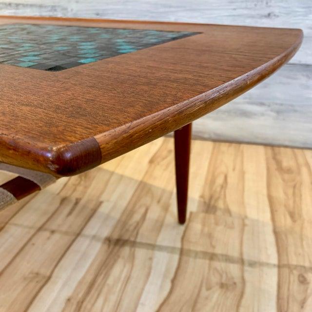Metal 1960s Danish Modern Arne Hovmand-Olsen Teak Coffee Table With Tile Inlay For Sale - Image 7 of 13