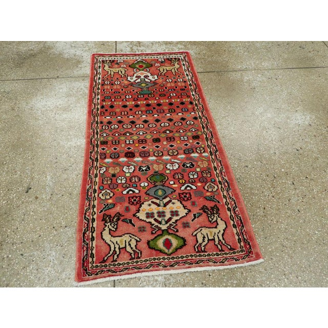 """Vintage Persian Mahal Rug – Size: 2' 1"""" X 4'4"""" For Sale - Image 4 of 9"""