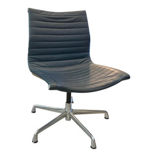Vintage Leather Office Chair by Herman Miller For Sale