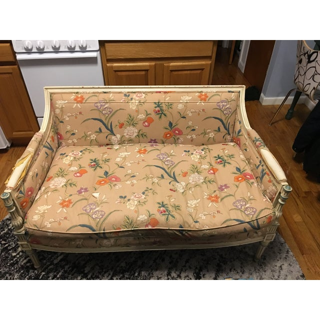 French Style Vintage Loveseat Settee - Image 5 of 8