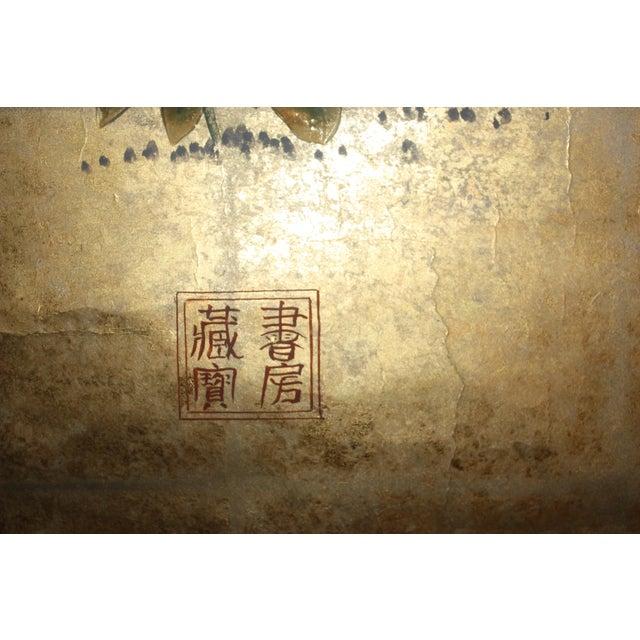Stark Wallcovering Gold Leaf Mural Wallcovering Panel For Sale - Image 4 of 9