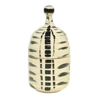 Artist Pottery Lidded Jar For Sale