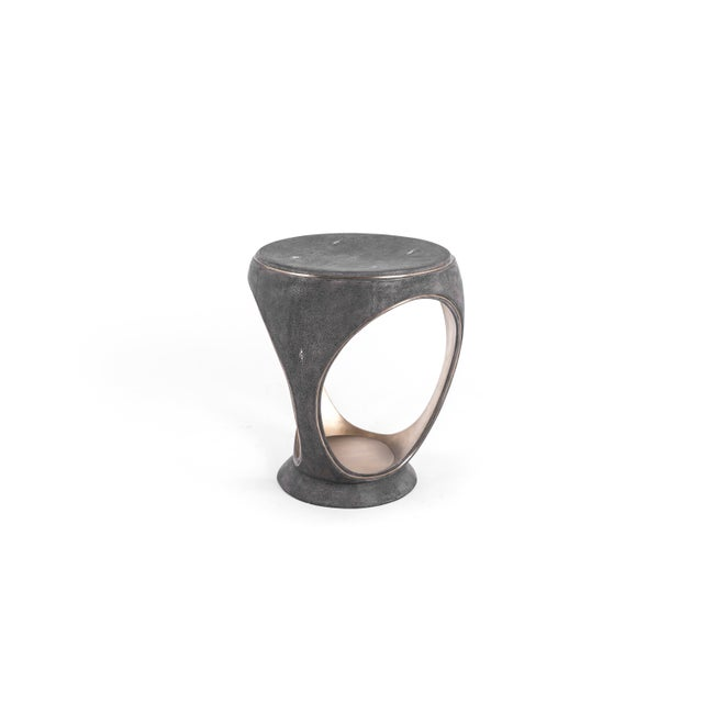 The ring stool in black shagreen is one of the most iconic pieces of the R&Y Augousti Collection. A Sculptural, jewel-like...