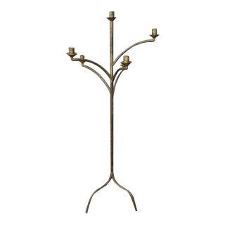 Large Five Arm Candelabra Floor Lamp
