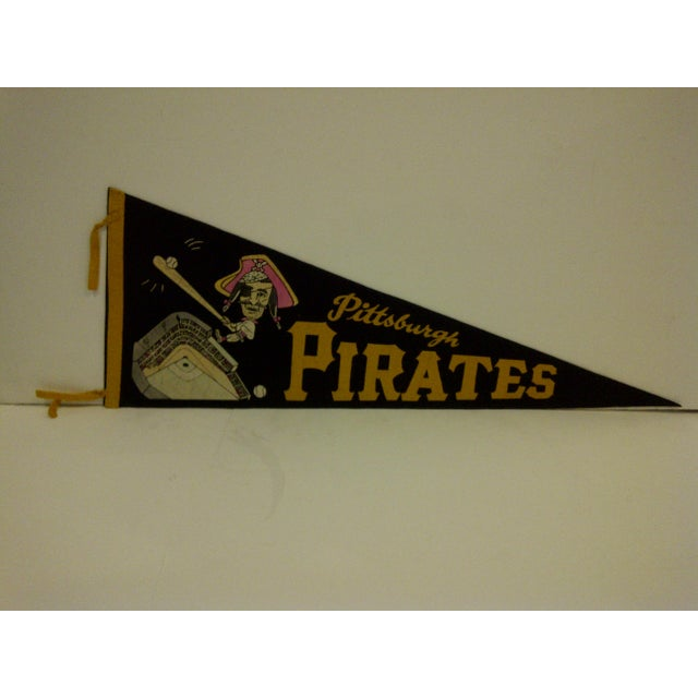 """A Vintage -- Major League Baseball -- Team Pennant -- """"Pittsburgh Pirates"""" -- Circa 1960 -- The Pennant Is In Very Good..."""