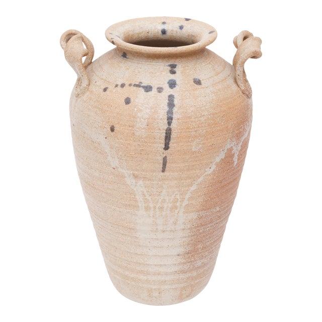 Vintage Hand Made Studio Pottery Ceramic Vase For Sale