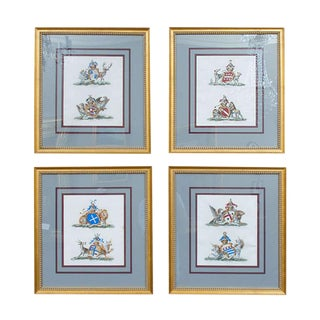 Set of Four Armorial Engravings by Charles Catton For Sale