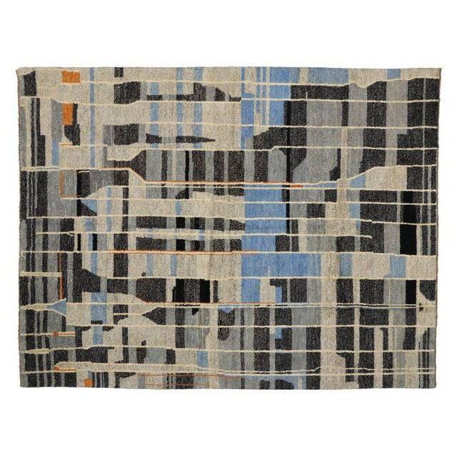 Contemporary Moroccan Style Rug with Modern Design For Sale - Image 4 of 5