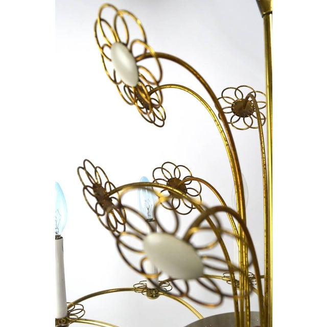 Floral Chandelier by Lightolier After Tynell For Sale In New York - Image 6 of 11