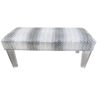 Modern Cowtan & Towt Fabric Bench For Sale
