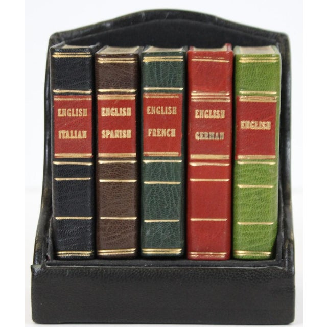 Miniature Italian, Spanish, German, French & English Dictionary Collection - Set of 5 - Image 4 of 5