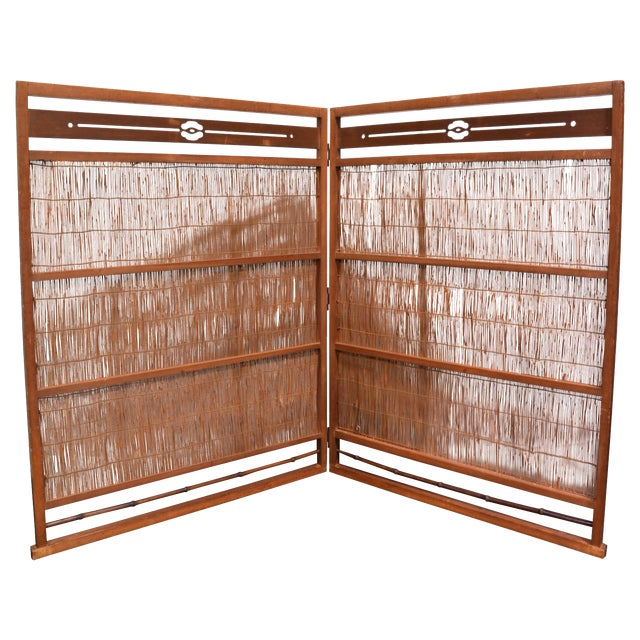 Wooden Japanese Screen - Image 1 of 4
