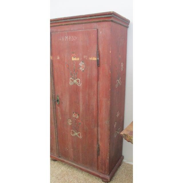 Antique Swedish Original Paint Cupboard Cabinet - Image 6 of 11