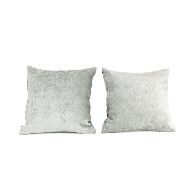Italian Silk Velvet Pillows - a Pair For Sale - Image 4 of 7