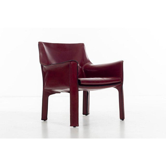 Metal Mario Bellini Cab Lounge Chairs For Sale - Image 7 of 11