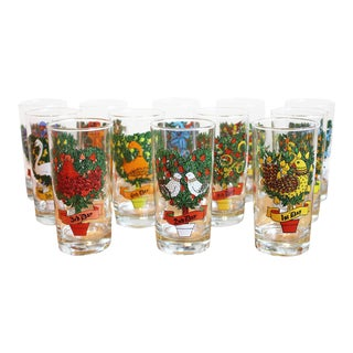 12 Day of Christmas Drinking Glasses