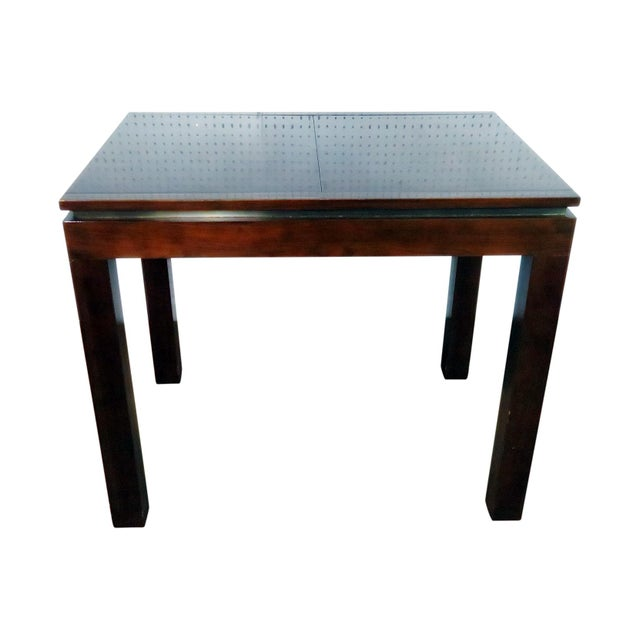 Wood Mid Century Dunbar Game Table For Sale - Image 7 of 7