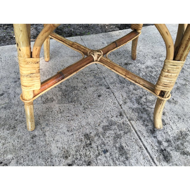 Boho Chic Vintage Cane Bent Rattan Chair For Sale - Image 3 of 5