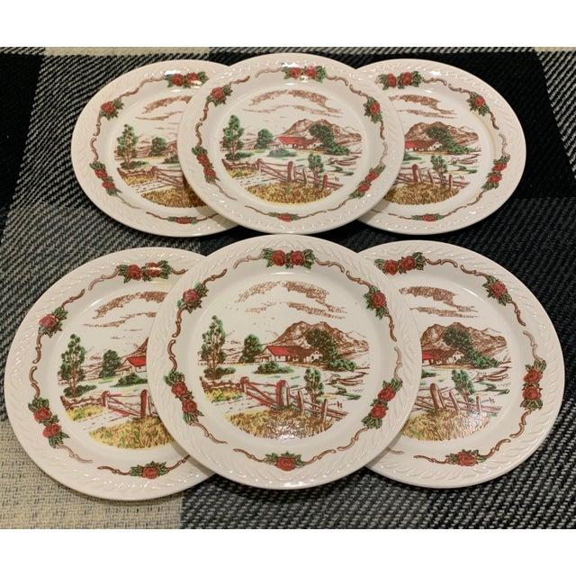 Vintage Figgjo Flint Norwegian Small Plates - Set of 6 For Sale - Image 11 of 11