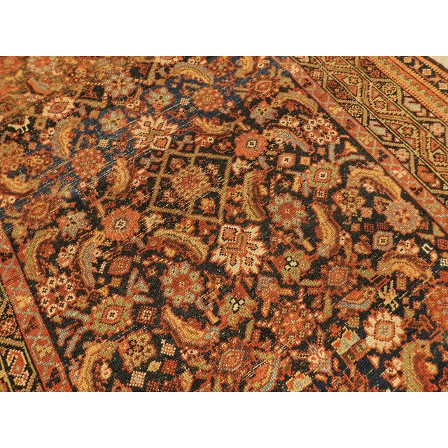 1900 Antique Persian Fereghan Rug For Sale - Image 4 of 13