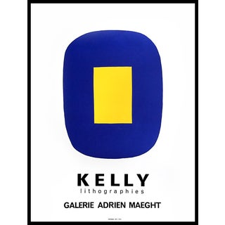 1970s Ellsworth Kelly Gallery Maeght Exhibition Poster For Sale