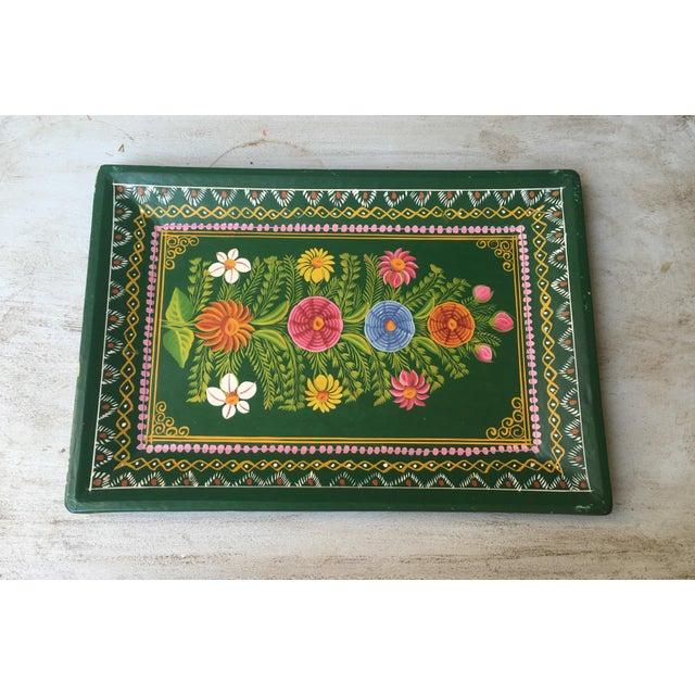 Antique Hand-Painted Spanish Folk Art Tray - Image 2 of 11