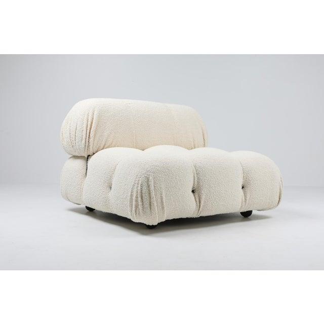 Mario Bellini, Italy 1970s, camaleonda sofa, reupholstered in bouclé wool. Postmodern sectional sofa by Mario Bellini for...