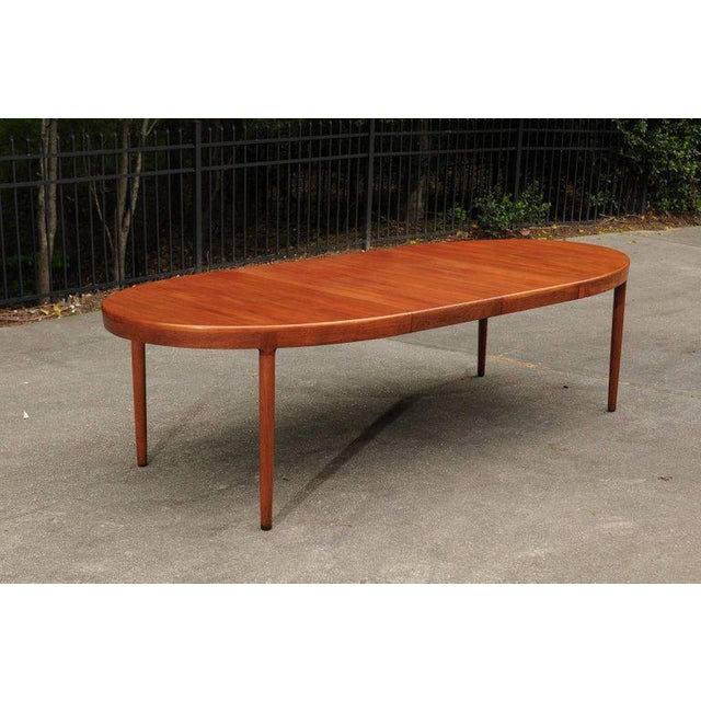 Magnificent Teak Extension Dining Table by Harry Ostergaard, Circa 1963 For Sale - Image 9 of 11