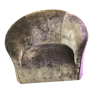 Mid Century Modern Vladimir Kagan for Directional Swivel Club Chair Newly Upholstered For Sale