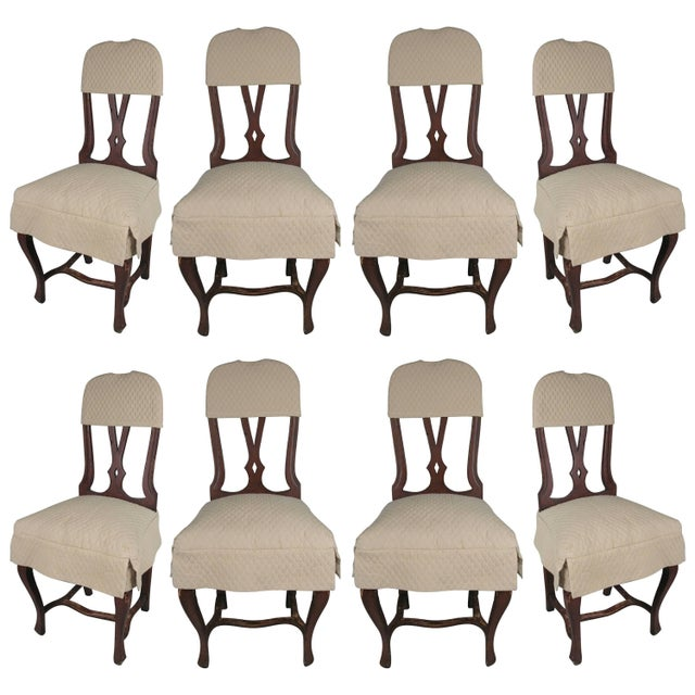 Black 1970s Swedish Style Dining Chairs With Quilted Covers - Set of 8 For Sale - Image 8 of 8
