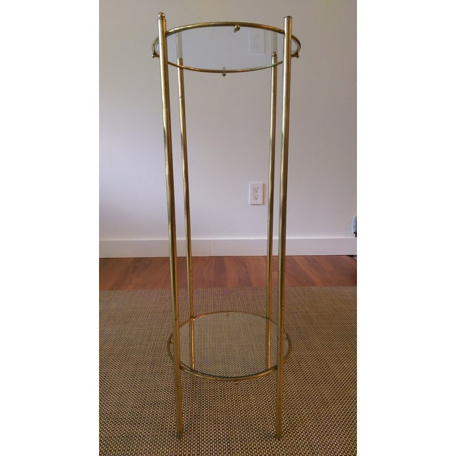 Brass & Glass 2 Tier Plant Stand - Image 3 of 3