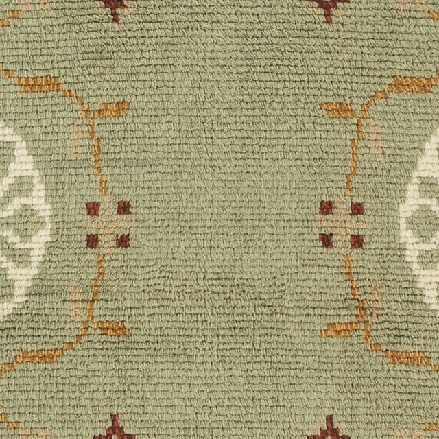 Mid-Century Modern Swedish Green Rya Rug For Sale - Image 3 of 5