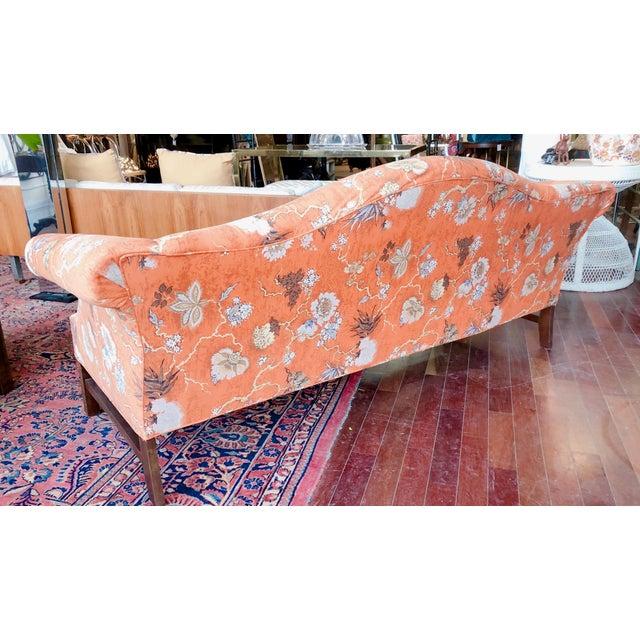 Orange Vintage Baker Camelback Sofa For Sale - Image 8 of 12