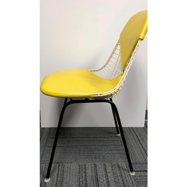1960s Herman Miller - Eames Mid-Century Modern Yellow Bikini Wire Chair For Sale - Image 5 of 7