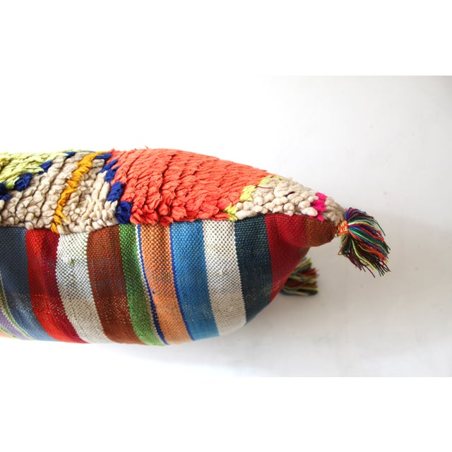 Moroccan Azilal Rug Pillow - Image 3 of 3