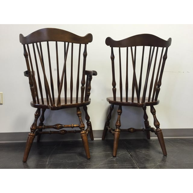 Temple Stuart Rockingham Windsor Dining Chairs -Set of 6 For Sale In Charlotte - Image 6 of 11