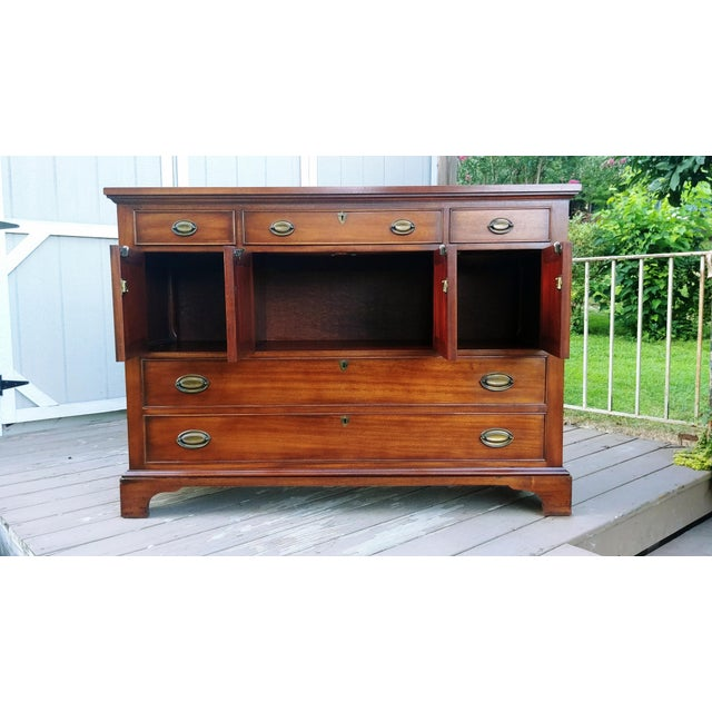 1966 Biedermeier Craftique Solid Mahogany Sideboard Buffet For Sale - Image 6 of 13